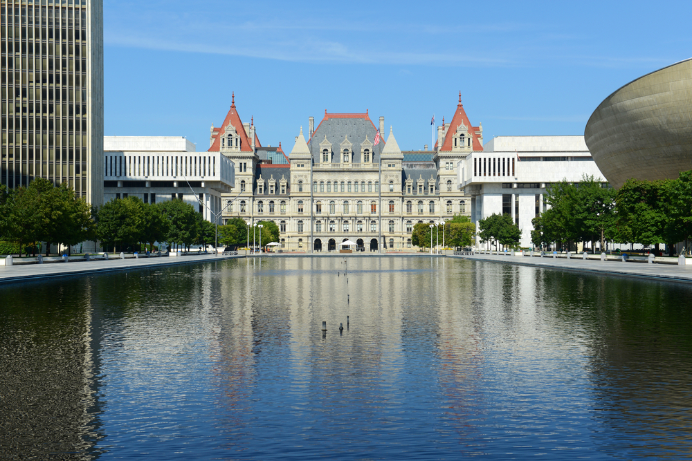 The New York capitol building
