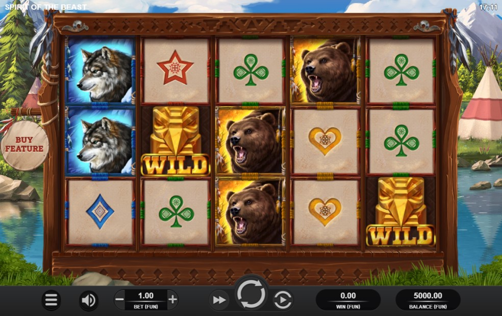 Spirit of the Beast slot reels by Relax Gaming