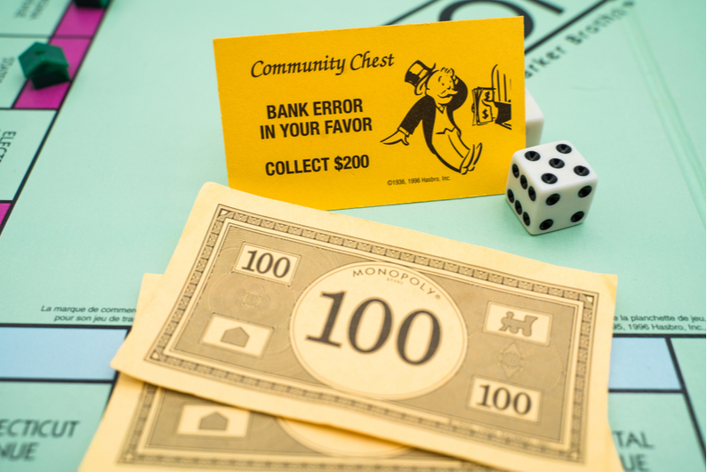 Monopoly Community Chest bank error card