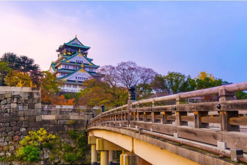 Osaka Castle at sunrise