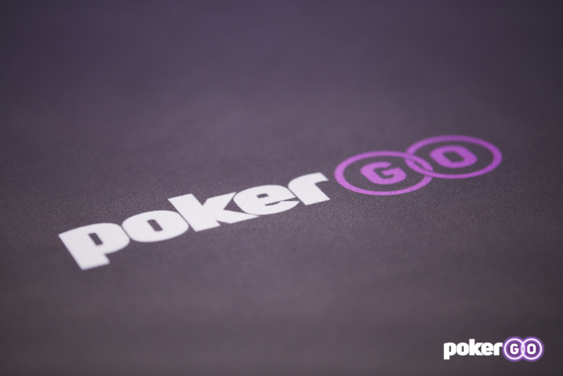 PokerGO logo on poker table