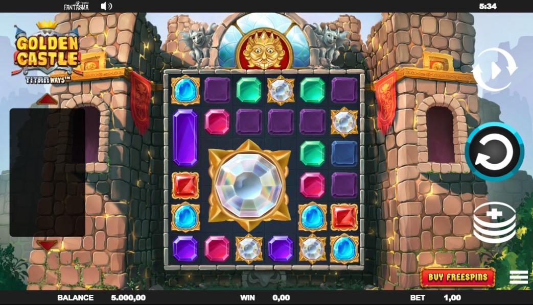 Golden Castle slot reels by Fantasma Games