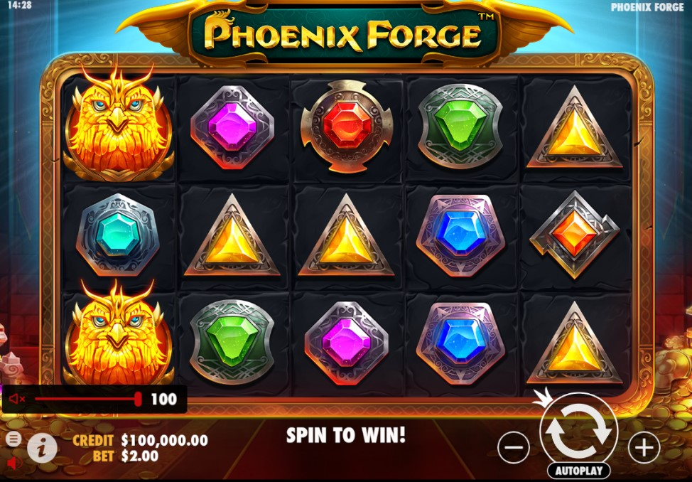 Phoenix Forge slot reels by Pragmatic Play