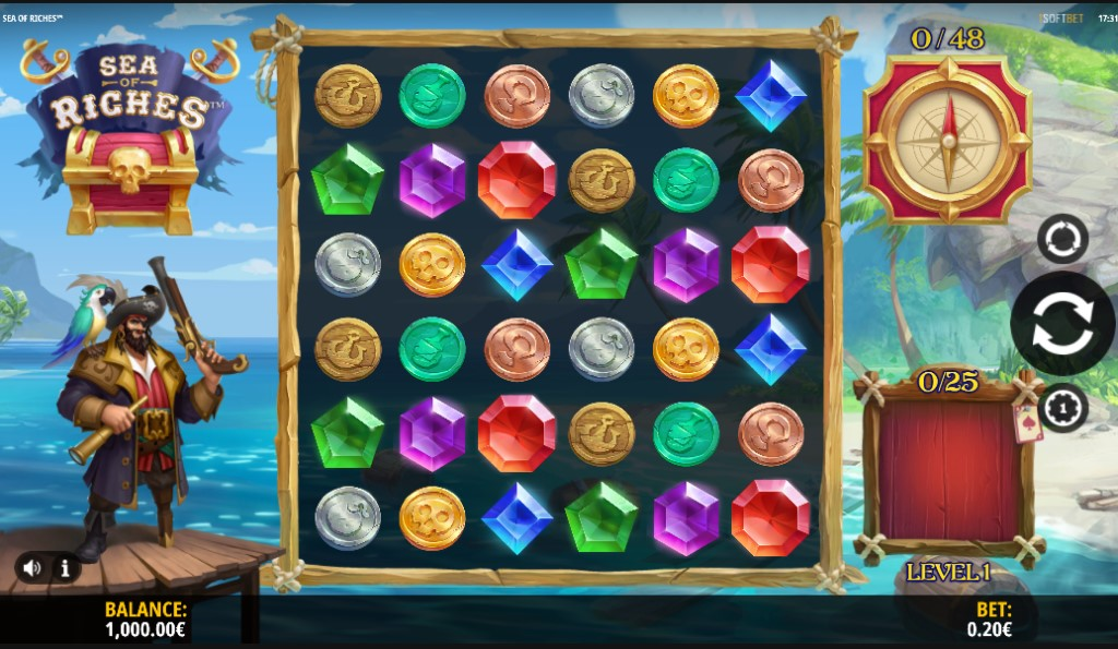 Sea of Riches slot reels by iSoftBet