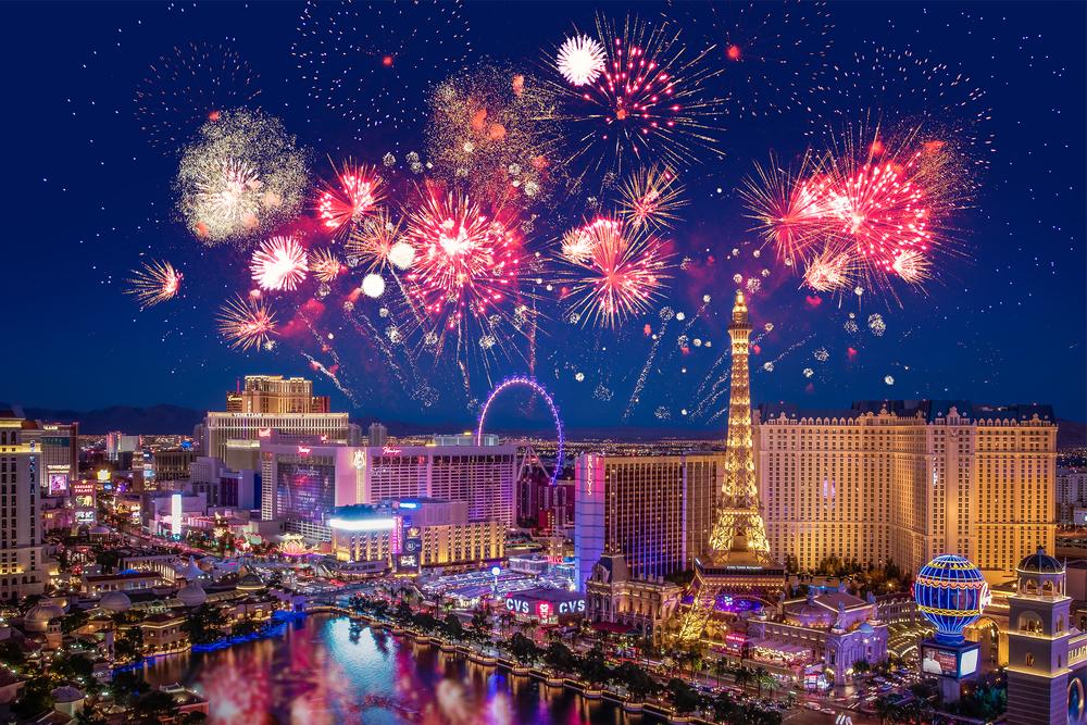 Las Vegas Strip fireworks