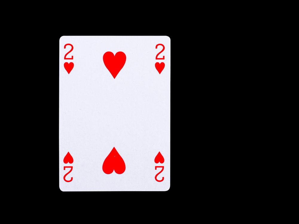 red 2 of hearts poker card