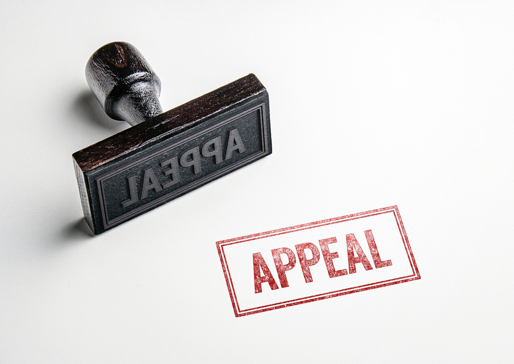 appeal stamp in red
