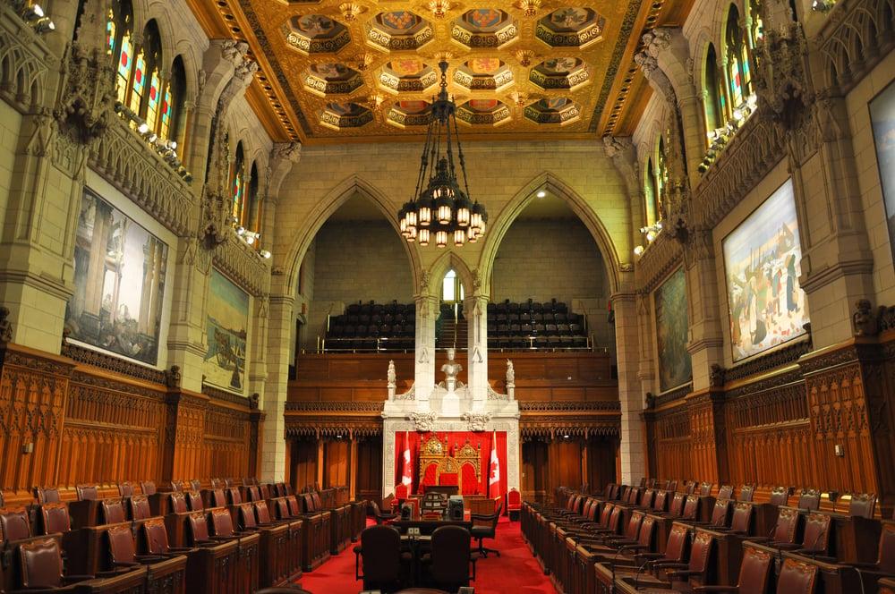The Senate building in Ottawa, Canada
