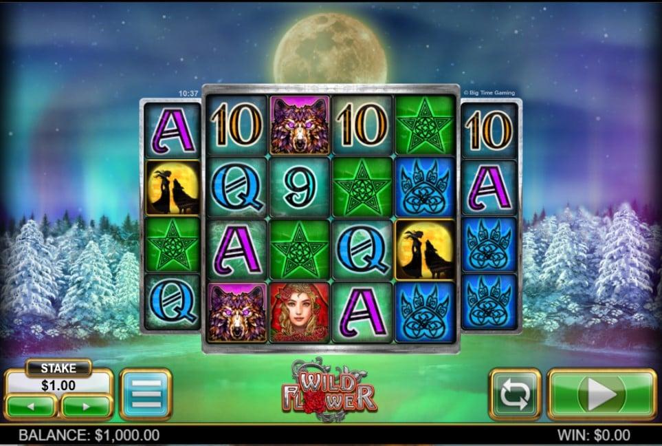 Wild Flower slot reels by Big Time Gaming