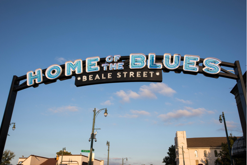 Beale Street sign in Memphis, Tennessee