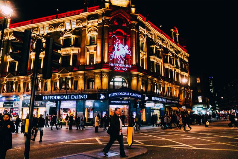 Hippodrome casino London at night