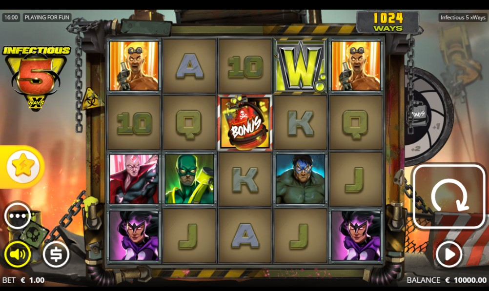 Infectious 5 xWays slot reels by Nolimit City