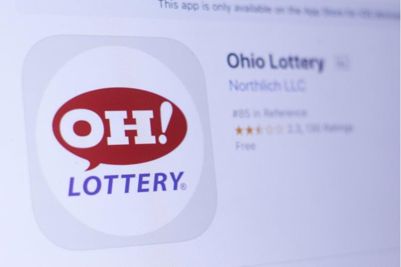 Ohio Lottery logo on a smartphone app