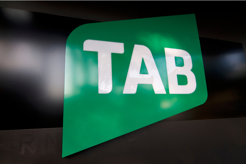 Green TAB sign