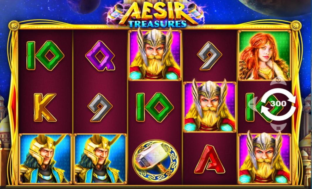 Aesir Treasures slot reels by PariPlay