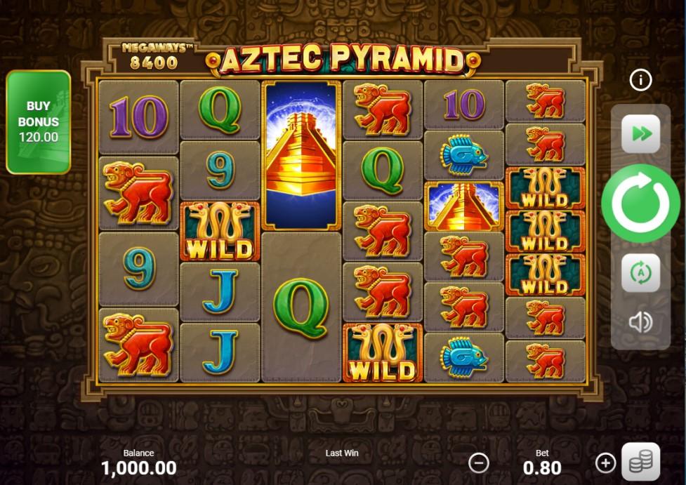 Aztec Pyramid: Megaways slot reels by Booongo
