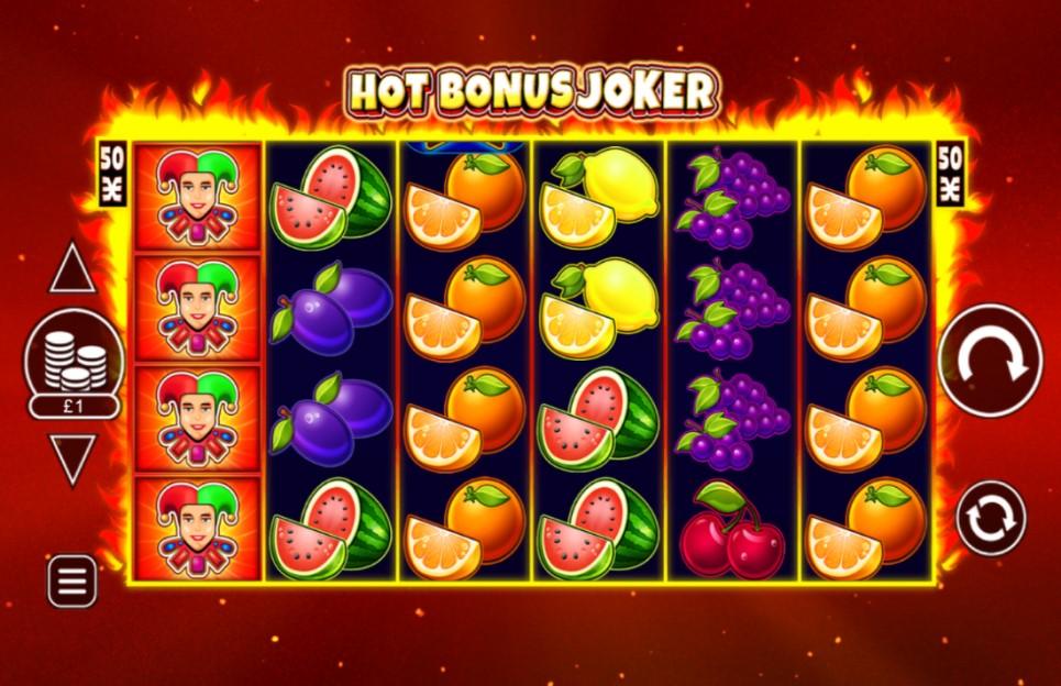 Hot Bonus Joker slot reels by Inspired Gaming