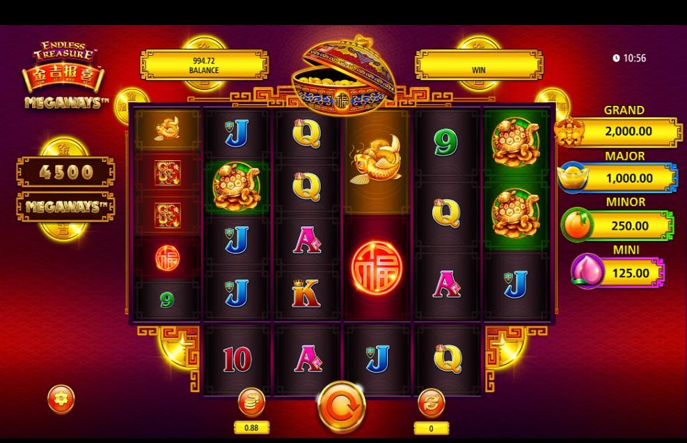 Jin Ji Bao Xi Megaways slot reels by Shuffle Master