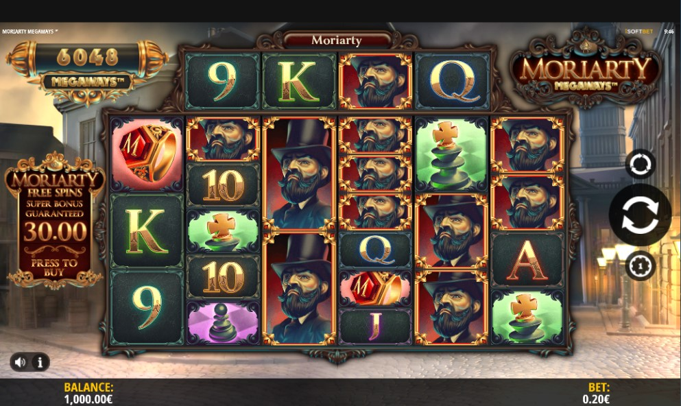 Moriarty Megaways slot reels by iSoftBet