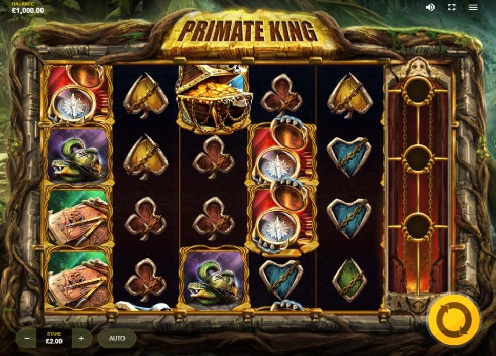 Primate King slot reels by Red Tiger