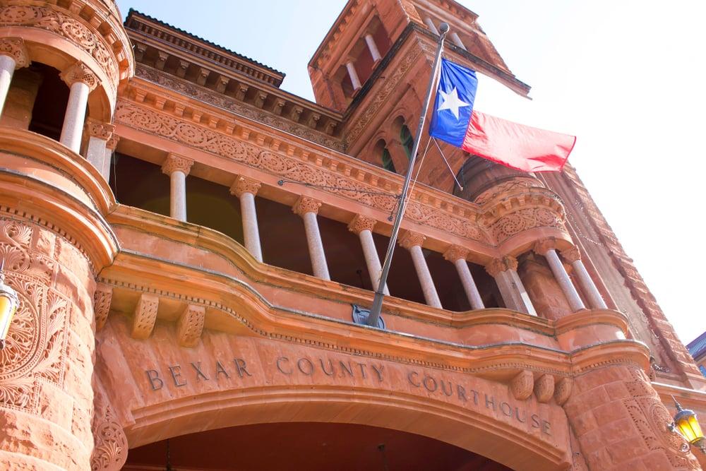 Facade of Bexar County Courthouse Texas