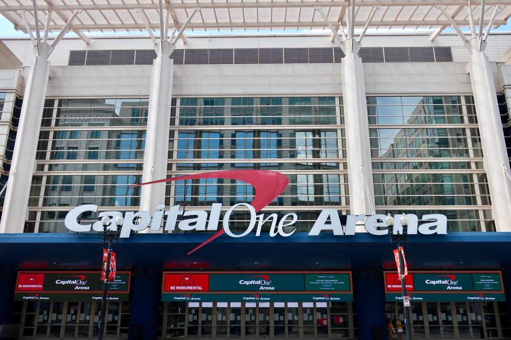 facade of the Capital One Arena in Washington, DC