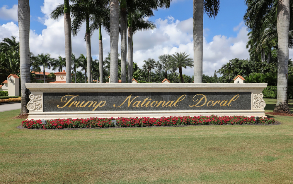 Trump Doral golf resort sign in Miami