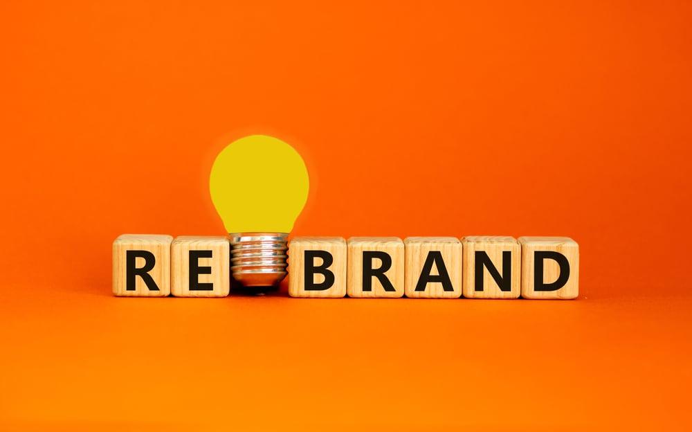 Rebrand with lightbulb