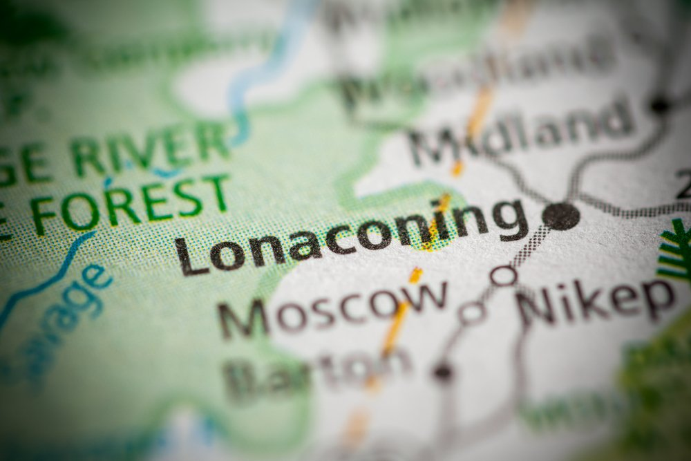 map of Lonaconing in Maryland