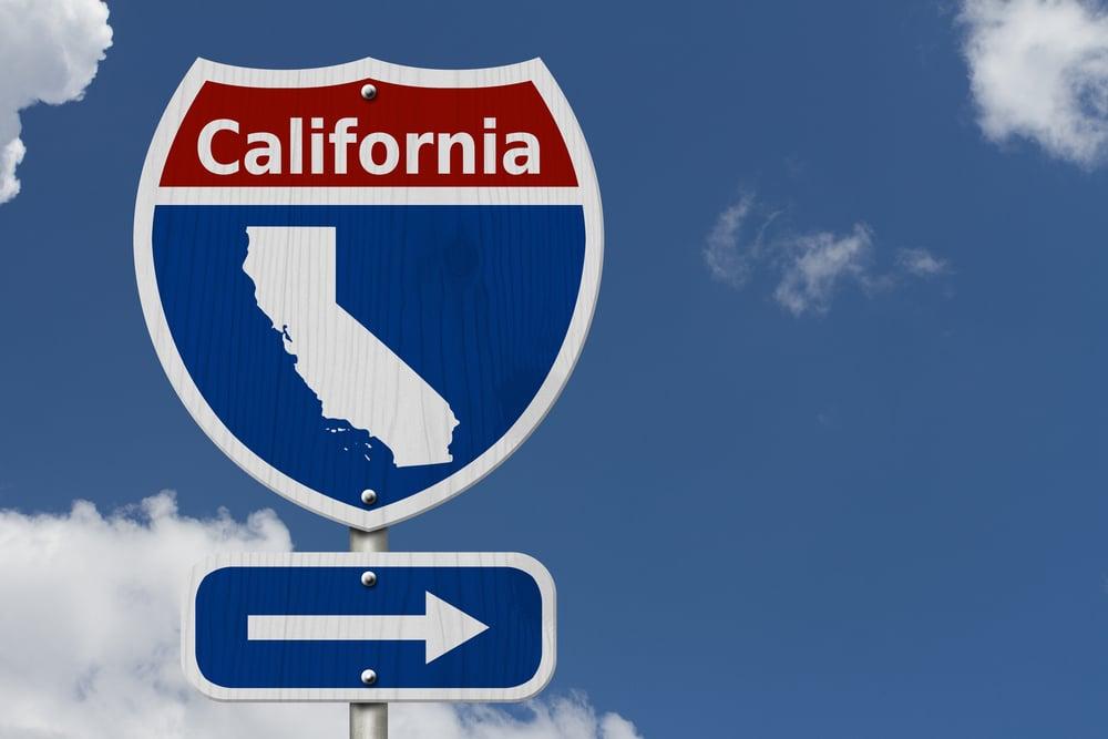 California road sign
