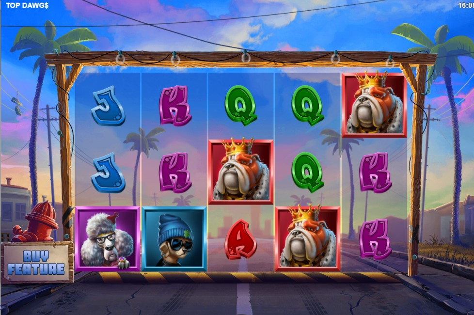 Top Dawg$ slot reels by Relax Gaming
