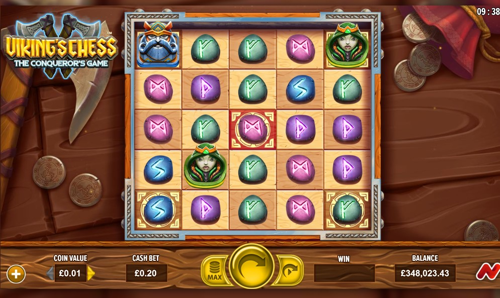 Viking Chess: The Conqueror's Game slot reels by NetGaming