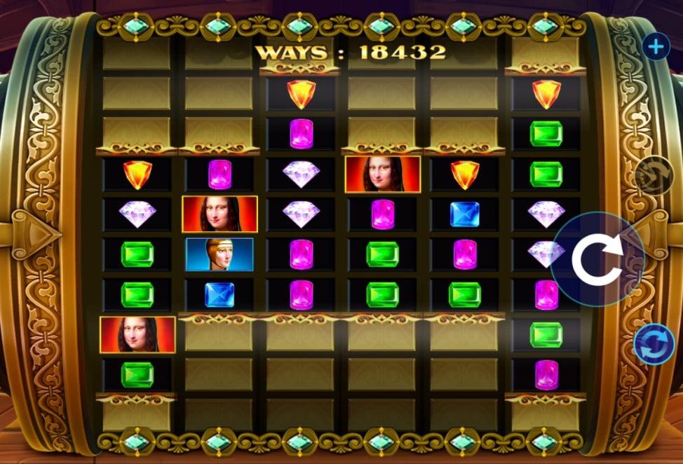 Da Vinci Creations slot reels by High 5 Games