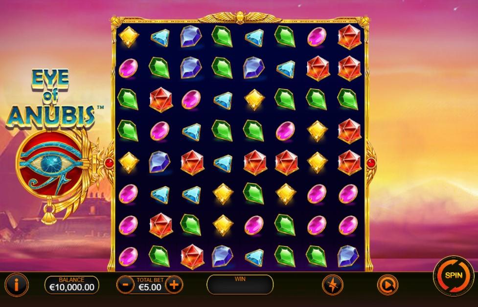 Eye of Anubis slot reels by Ash Gaming