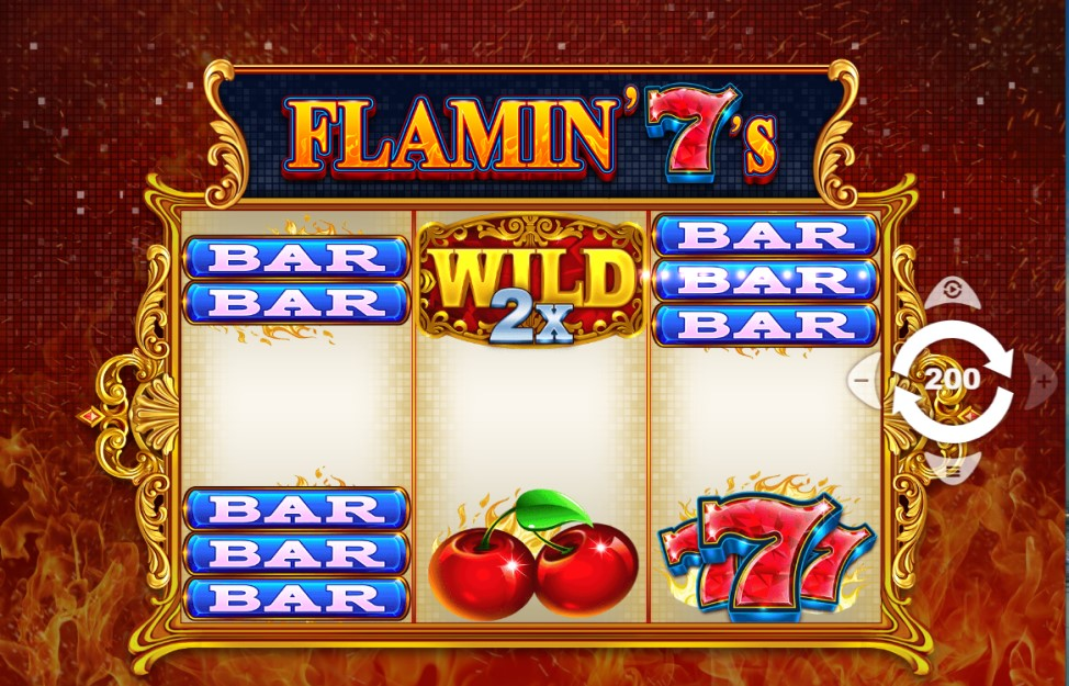 Flamin' 7's slot reels by PariPlay