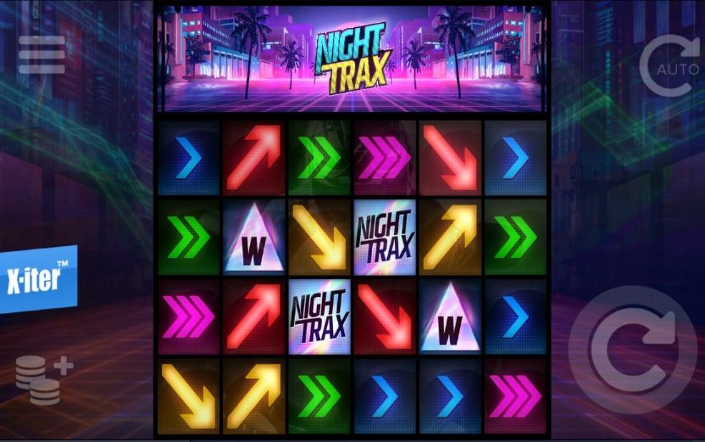 Night Trax slot reels by ELK Studios