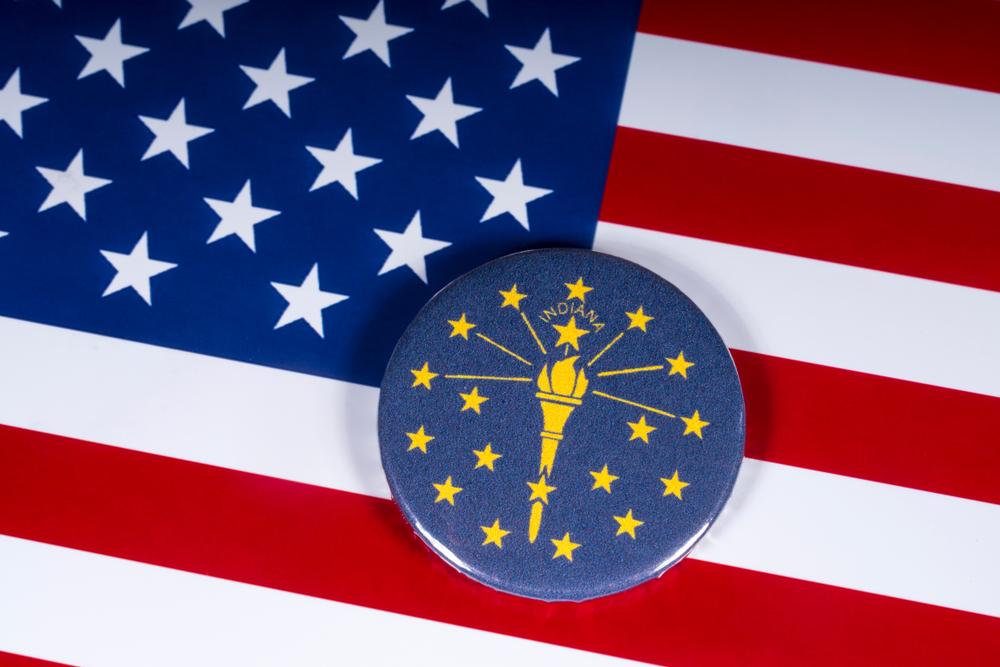 US flag with Louisiana flag badge