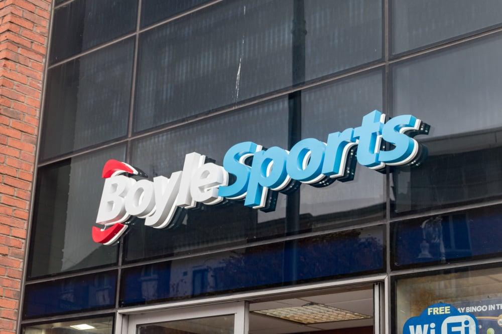 BoyleSports logo on shop front
