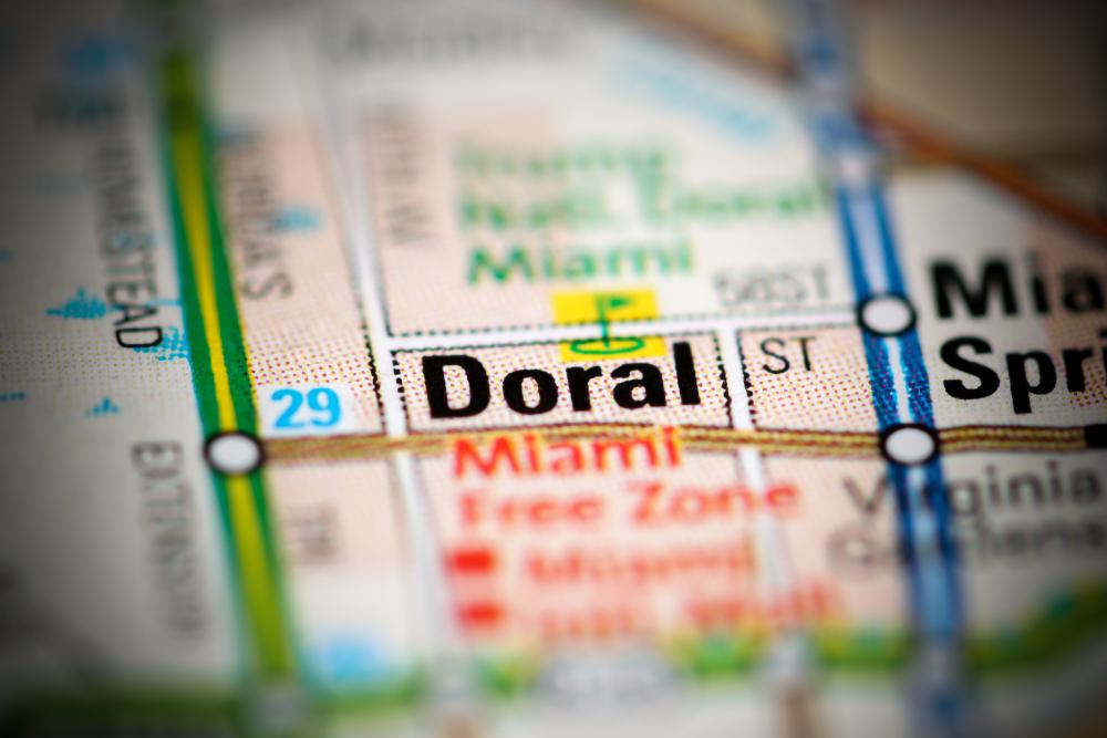Map of Doral, Florida