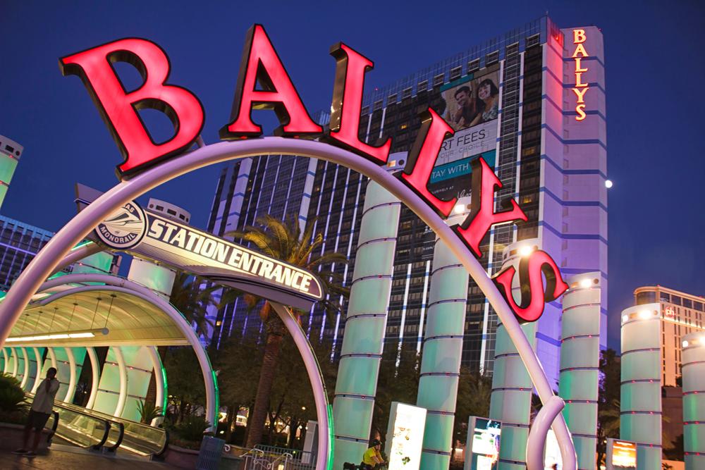 Bally's entrance sign Las Vegas