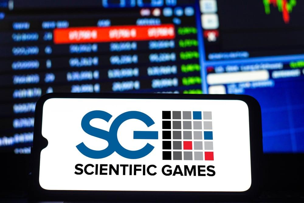 Scientific Games logo on phone