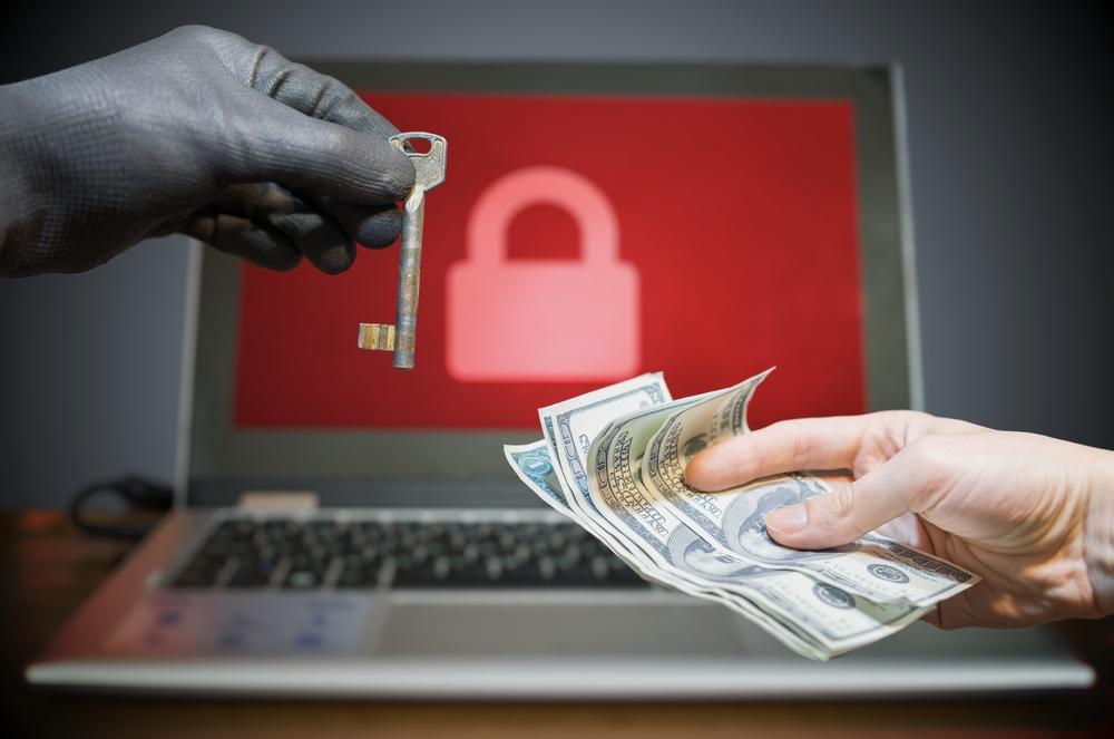 ransomware attack concept