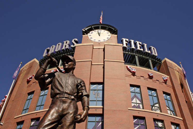 Statue outside of Coors Field in Denver, Colorado