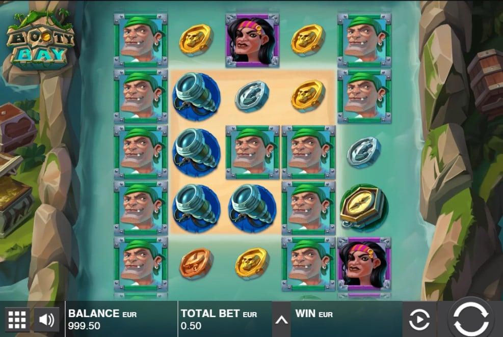 Booty Bay slot reels by Push Gaming