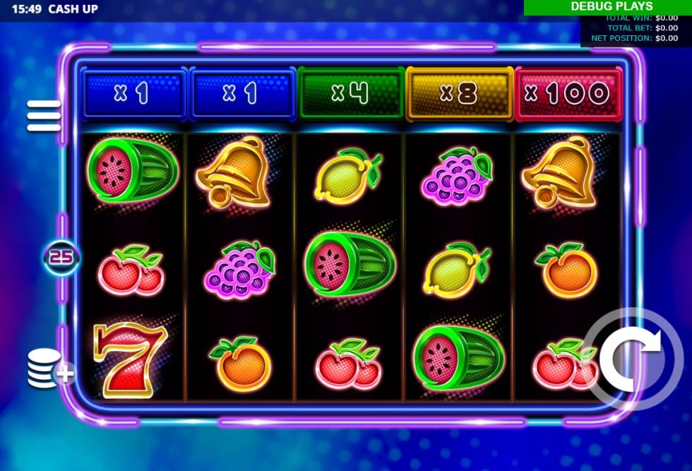 Cash Up slot reels by Leander Games