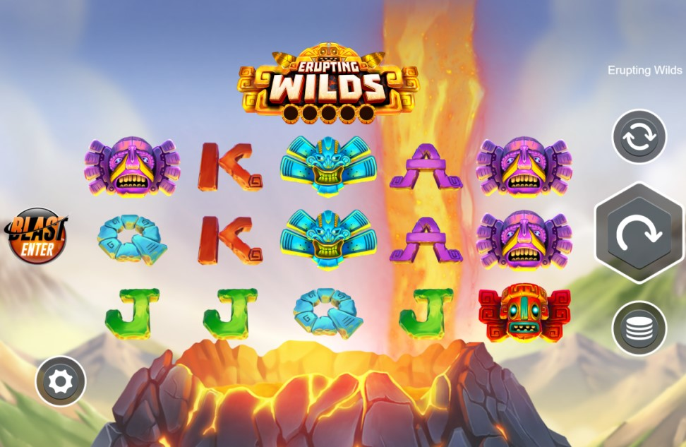 Erupting Wilds slot reels by Live 5 Gaming