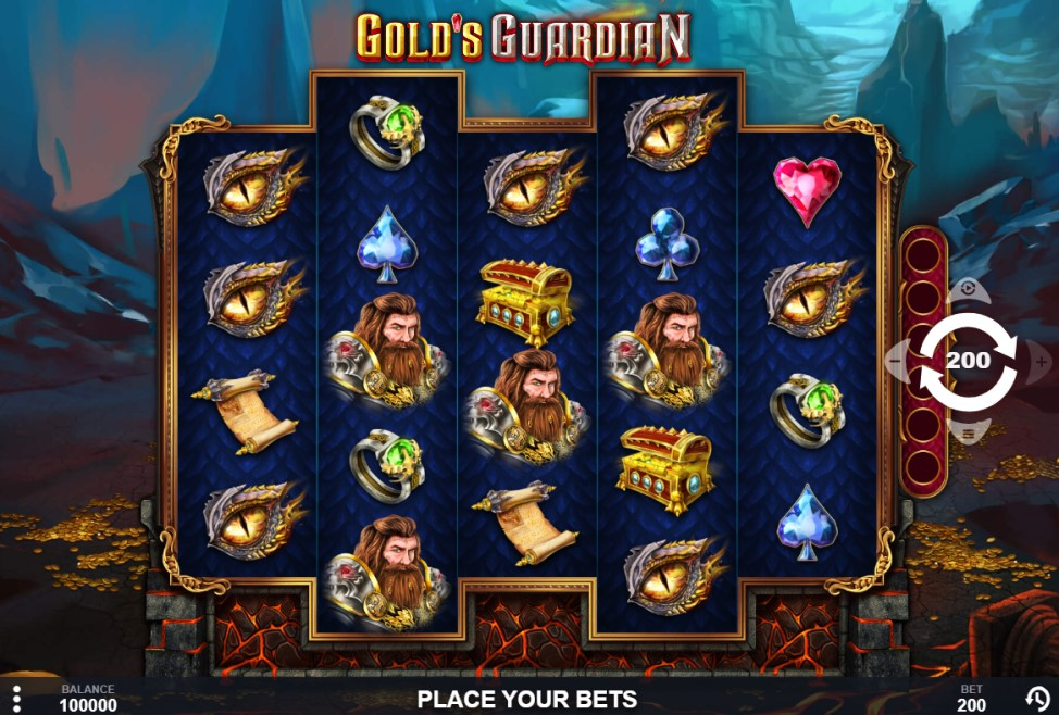 Gold's Guardian slot reels by Pariplay
