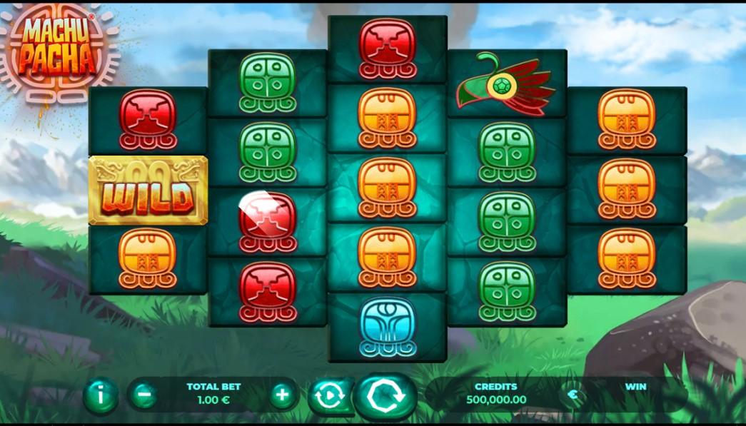 Machu Pacha online slot reels by Gaming1