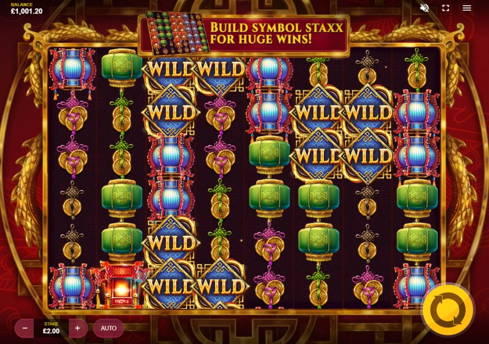 Mystic Staxx slot reels by Red Tiger