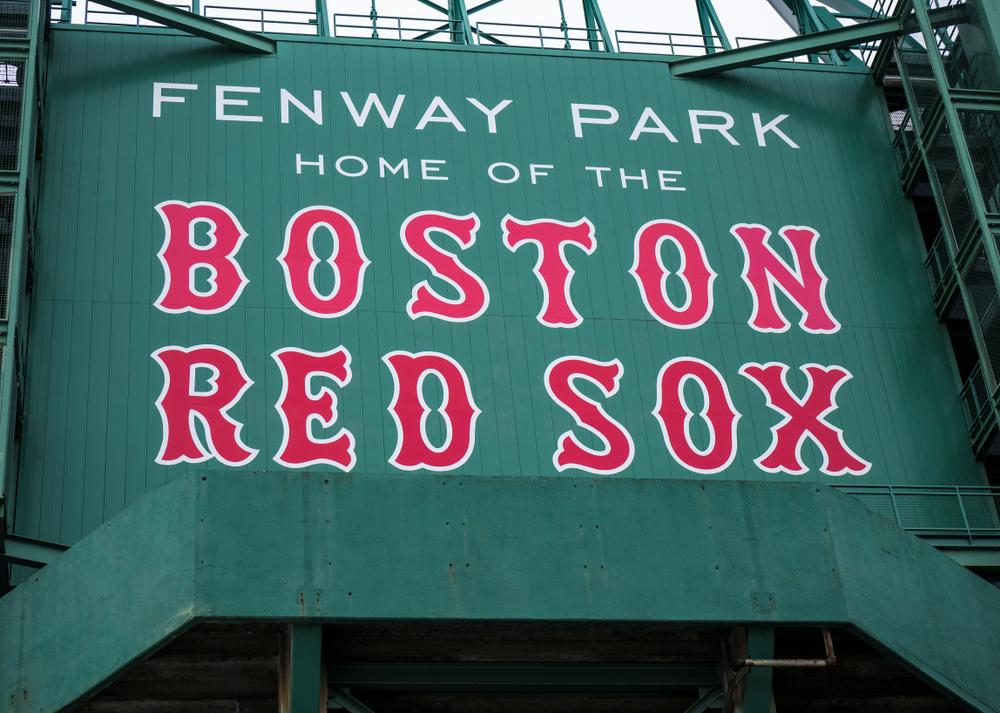 Signage at Fenway Park stadium in Boston, Massachusetts